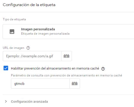 Etiqueta personalizada en Google Tag Manager